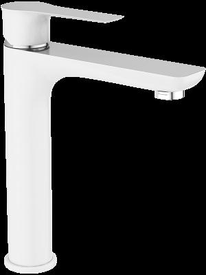 Bateria umywalkowa stojąca nablatowa Laveo Raila biały/chrom BLL_62ND