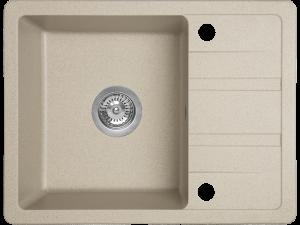 Zlewozmywak granitowy Laveo Stella 58x44 cm 1-komorowy beżowy SBY_413T
