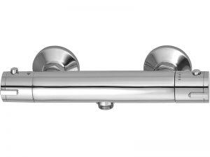 Bateria natryskowa ścienna termostatyczna bez zestawu natryskowego Laveo Termico chrom BAT_04TD