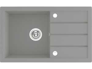Zlewozmywak granitowy Laveo Trzynastka 79x48 cm 1-komorowy szary SBP_511T