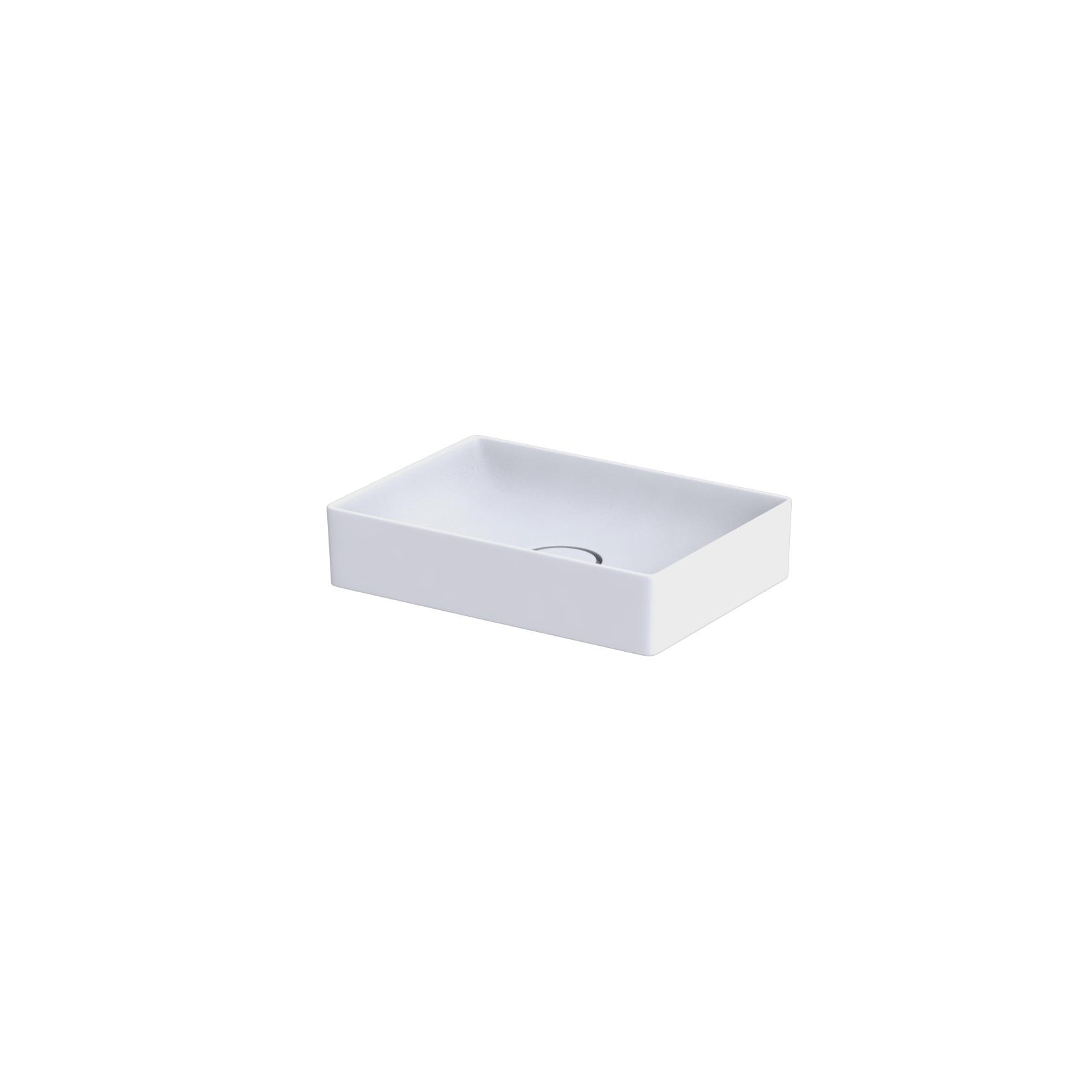 Umywalka nablatowa Oristo Floppy ceramiczna biała 50 cm UBL-FL-50-91