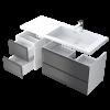 Zdjęcie Szafka podumywalkowa 40 cm Oristo Brylant 2 szuflady biały połysk korpus biały OR36-SD2S-40-1