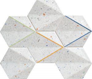 Mozaika ścienna Tubądzin Dots grey 29,8x22,1 cm