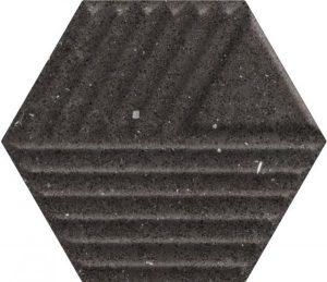 Płytka ścienna Paradyż Space dust Nero Heksagon STR C 19,8x17,1 cm (p)