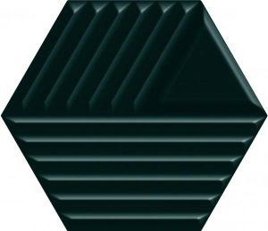 Płytka ścienna Paradyż Intense tone Green Heksagon STR C 19,8x17,1 cm (p)