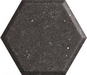 Płytka ścienna Paradyż Space dust Nero Heksagon STR A 19,8x17,1 cm (p)