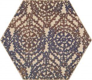 Inserto Paradyż Glitter mood Blue Heksagon A 19,8x17,1 cm (p)