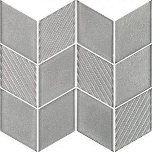 Mozaika uniwersalna szklana Paradyż Shades of grey Silver Romb20,5x23,8 cm (p)