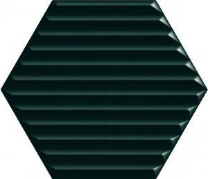 Płytka ścienna Paradyż Intense tone Green Heksagon STR B 19,8x17,1 cm (p)