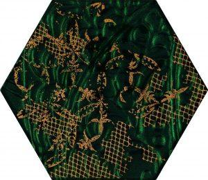 Inserto szklane Paradyż Intense tone Green Heksagon B 19,8x17,1 cm (p)