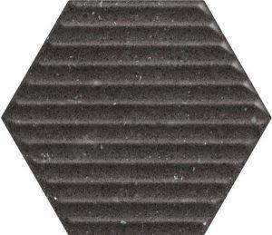 Płytka ścienna Paradyż Space dust Nero Heksagon STR B 19,8x17,1 cm (p)
