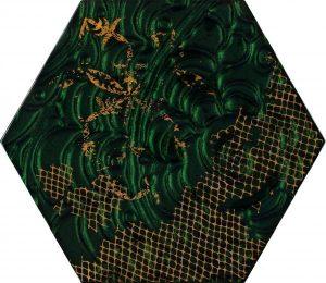 Inserto szklane Paradyż Intense tone Green Heksagon A 19,8x17,1 cm (p)