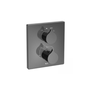 Bateria wannowa lub prysznicowa termostatyczna 1 – uchwytowa  podtynkowa Roca Insignia czarny A5A2C3ACN0