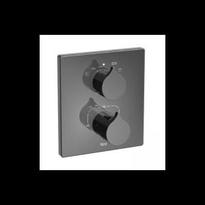 Bateria wannowo prysznicowa termostatyczna 1 – uchwytowa  podtynkowa Roca Insignia czarny A5A0C3ACN0