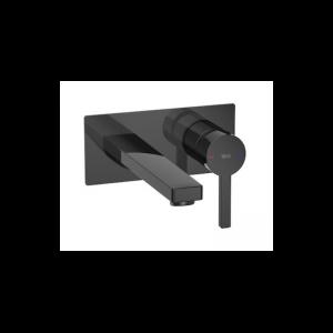 Bateria umywalkowa 1 – uchwytowa ścienna Roca Naia czarny A5A3596CN0
