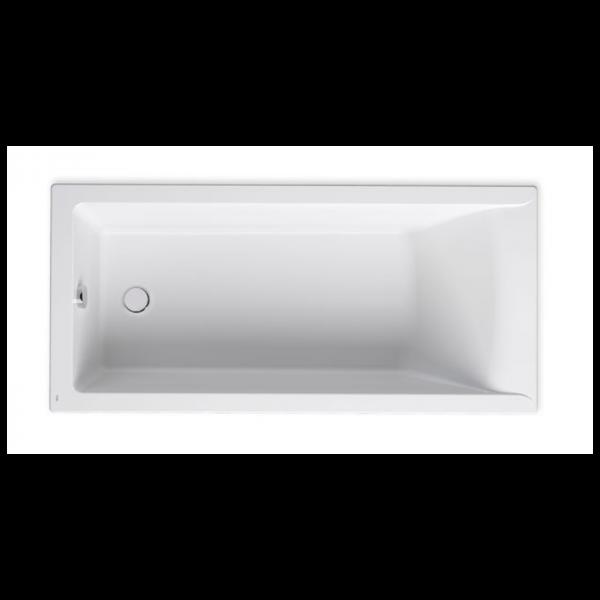 Zdjęcie Wanna prostokątna akrylowa Slim Rim Roca Savai 160×75 cm biały A248588000
