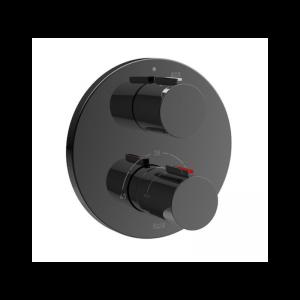 Bateria wannowa lub prysznicowa termostatyczna podtynkowa Roca T – 1000 czarny A5A2C09CN0