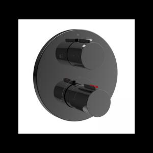 Bateria wannowo - prysznicowa termostatyczna podtynkowa Roca T – 1000 czarny A5A0C09CN0