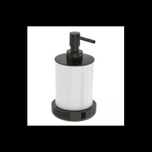 Dozownik szklany nablatowy Roca Tempo 16,5×8,7 cm Titanium black A817026022
