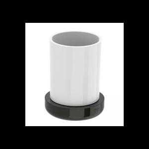 Pojemnik na szczoteczki nablatowy szklany Roca Tempo 11,2×8,7 cm Roca Titanium black A817022022