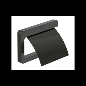 Wieszak na papier z pokrywą Roca Tempo 15×11,6 cm Titanium black A817033022