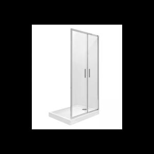 Drzwi prysznicowe dwuczęściowe Bifold Roca Town-N MaxiClean 80x195 cm AMP2408012M