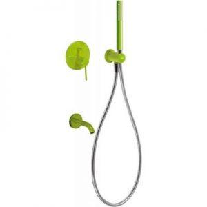 Zestaw prysznicowy z baterią podtynkową Tres Study Exclusive zielony 262.180.03.TVE @^