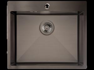 Zlewozmywak stalowy Laveo Marmara 59x51 cm 1-komorowy grafit SAM_510T