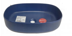 Umywalka nablatowa owalna Artceram Cognac 55x35 cm niebieska COL003 16;00 @^