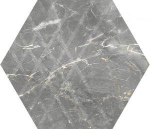 Płytka ścienna Paradyż Marvelstone Light Grey Heksagon Gres Szkl. Mat. 19.8 x 17.1 cm