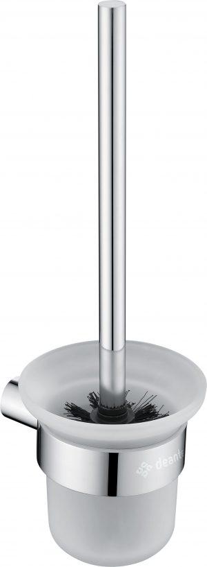Deante Round Szczotka wisząca WC z pojemnikiem chrom ADR_0711