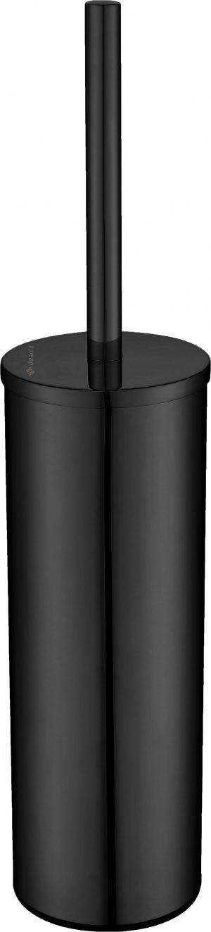 Deante Round Szczotka WC wolnostojąca z pojemnikiem czarny ADR_N712