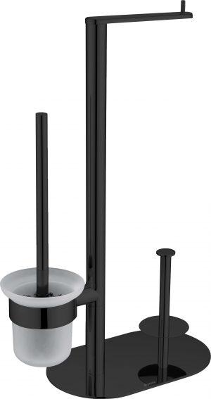 Deante Round Stojak na papier 3-funkcyjny czarny ADR_N732