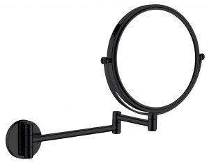 Deante Round Lusterko kosmetyczne na ramieniu 2-stronne czarny ADR_N811