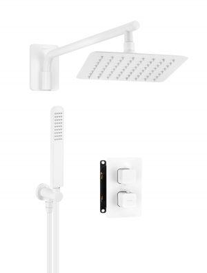 Deante Box Zestaw podtynkowy termostatyczny biały BXYZAECT