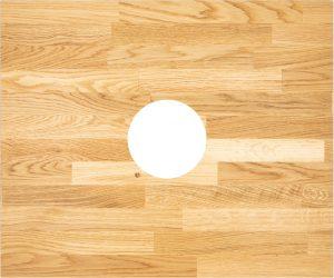 Deante Blat z otworem do konsoli drewno CBL_D61A