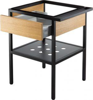 Deante Konsola łazienkowa stojąca z szufladą 56,5x50x70 cm czarny CSD_X50A