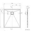 Zdjęcie Deante Correo Brodzik prostokątny granitowy 100×90 cm czarny KQR_N45B