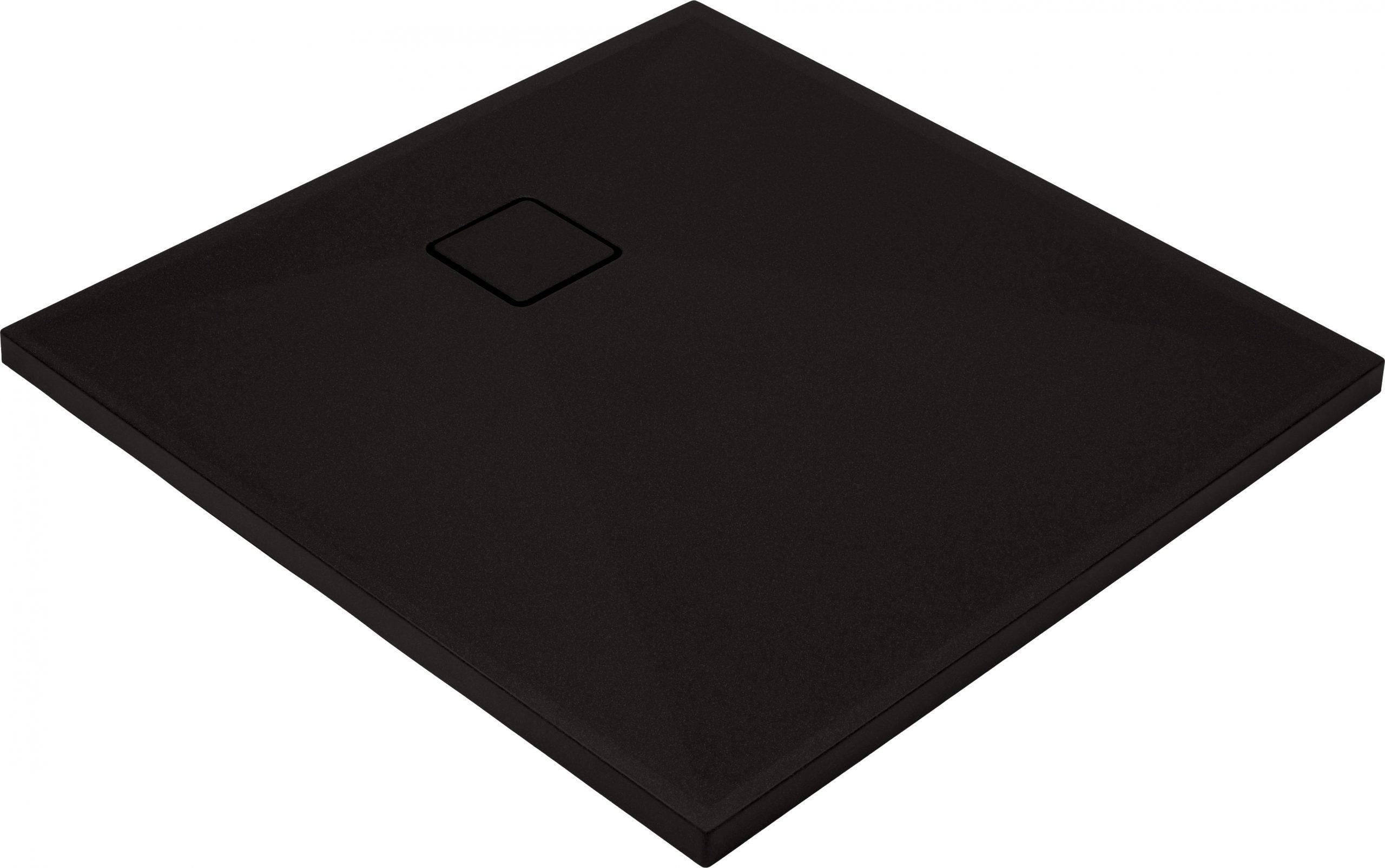 Deante Correo Brodzik kwadratowy granitowy 90x90 cm czarny KQR_N41B