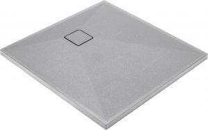 Deante Correo Brodzik kwadratowy granitowy 90x90 cm szary metalik KQR_S41B