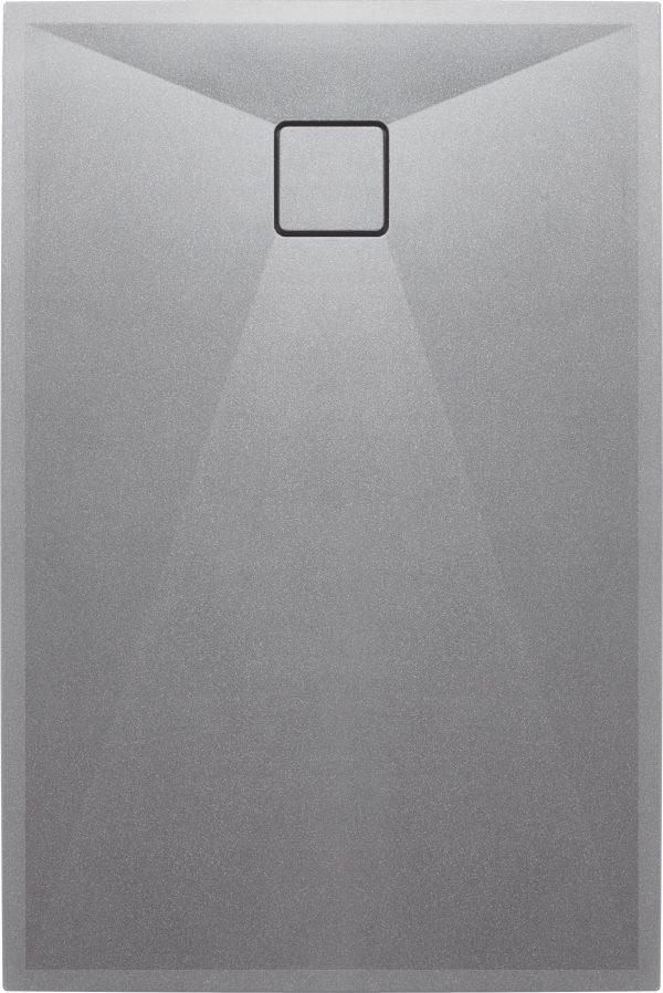 Zdjęcie Deante Correo Brodzik prostokątny granitowy 100×80 cm szary metalik KQR_S46B
