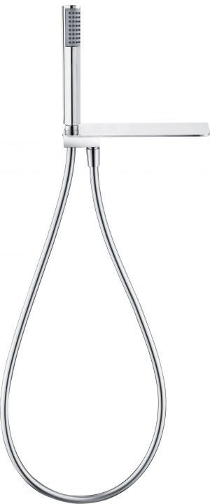 Deante Cascada Zestaw prysznicowy z półką oraz słuchawką i wężem chrom NAC_056K