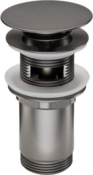 Deante Click-Clack Korek ceramiczny uniwersalny, z przelewem titanium NHC_D10U