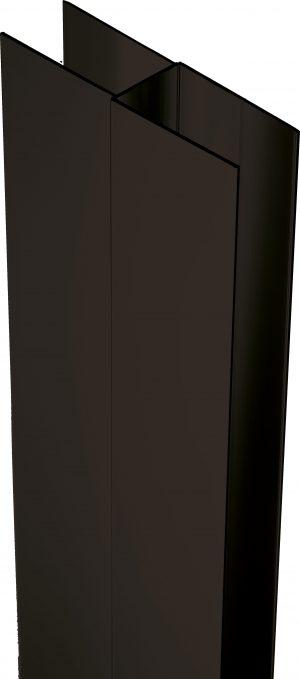 Deante Profil poszerzający z elementem montażowym 200 cm czarny XKC00PN02