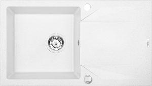 Deante Evora Zlewozmywak 1-komorowy z ociekaczem 78x44 cm alabaster ZQJ_A113