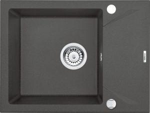 Deante Evora Zlewozmywak 1-komorowy z krótkim ociekaczem 59x44 cm antracyt metalik ZQJ_T11A