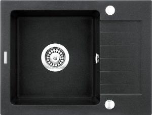 Deante Zorba Zlewozmywak 1-komorowy z krótkim ociekaczem 58x44 cm grafit metalik ZQZ_G11A