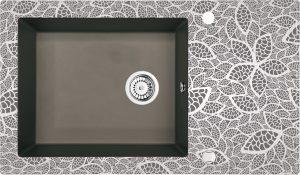 Deante Capella Zlewozmywak szklano-granitowy 1-komorowy z ociekaczem 86x50 cm antracyt/szkło natural ZSC_TN2C