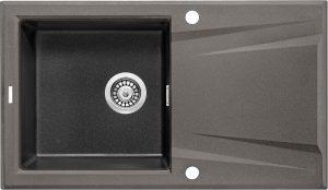 Deante Prime Bicolor Zlewozmywak granitowy 1-komorowy z ociekaczem 86x50 cm antracyt metalik/grafitowy metalik ZSR_T11G