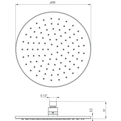 Zdjęcie Deante Cascada Titanium Deszczownica okrągła 25 cm titanium NAC_D00K